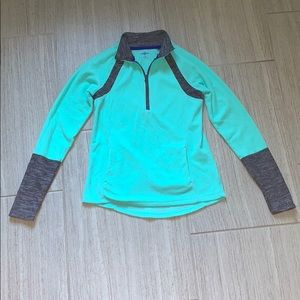 Quarter zip mint fleece